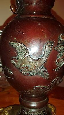 Antique Vantines Vantine & Co 1880 Parlor Oil Kerosene Table Lamp Glass Shade 8