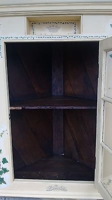 oak wall corner cabinet 3