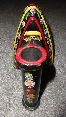 Beautiful Traditional British Hand Painted Barge/Canal Ware Metal Ladies Iron! 4