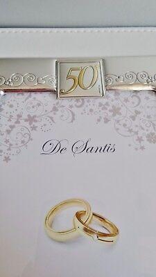 Regalo 50 Anni Matrimonio Album Foto Fotografico Argento 925 Pelle