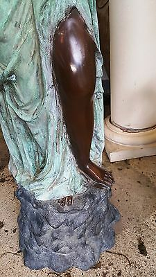 "Classical Cast Bronze Sculpture Fountain Rebecca at the Well  Lady with Urn 56""H 7"