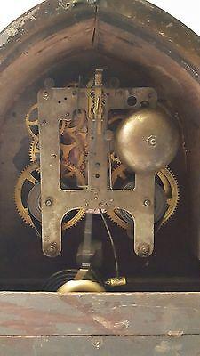 Large Antique Gilbert Mantle Clock w/key- Working 6