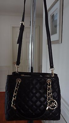 11d39c2b81 ... NWT Michael Kors Susannah Small North South Tote Quilted Leather Black   328+tax 7