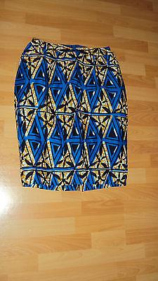 Ankara African Print Blue, Black & Beige Multi Skirt & Jacket Top UK 12-14 / M 7