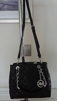 2ac0d6ffac ... NWT Michael Kors Susannah Small North South Tote Quilted Leather Black   328+tax 6