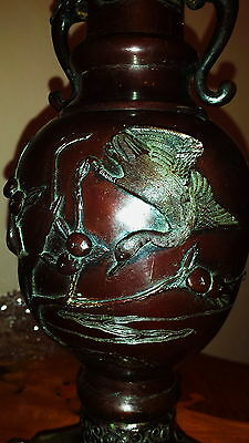 Antique Vantines Vantine & Co 1880 Parlor Oil Kerosene Table Lamp Glass Shade 5