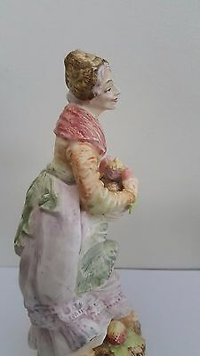 Antique European Bisque Porcelain Fruit Seller Figurine / Statue 4