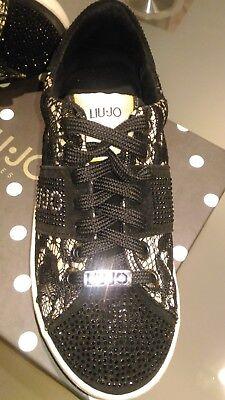 LIUJO SCARPE DONNA ragazza misura 35 sneakers strass nera
