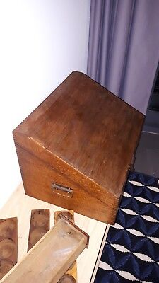 Apothekerschrank Antik Reiseapotheke Schrank Arzt alchemie Koffer holz Sekretär 2