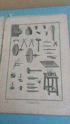 Recueil De Planches Sur Les Sciences Diderot 10 Tavole Di Mestieri Anno 1772 4