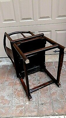 ANTIQUE 19c CHINESE ELM WOOD SQUARE ARMS & BACK  SINGLE SPLAT BACK ARMCHAIR 9