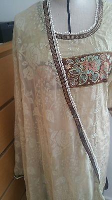 Eid pakistani designer anarkali shalwar kameez saree sari lengha suit medium 7