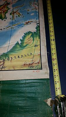 1956 (?) Rand McNally Pull Down  School Wall Map ASIA M400 China