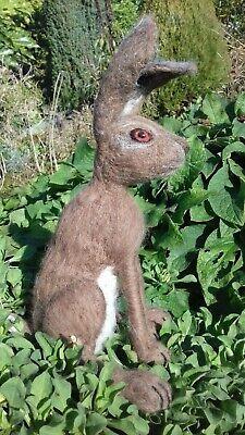 Large Hare British Rare Breed wool needle felt kit WULYDERMY 4