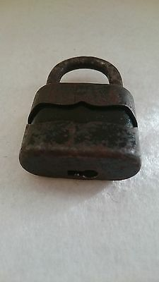 Vintage Solid Cast Iron Padlock System Dulv №35L No Key 4