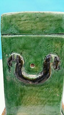 Antique Han Dynasty Style Ceramic Enamel Green Box 10