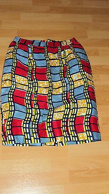 Ankara African Print Red, Black, Yellow & Beige Skirt & Jacket Top UK 12-14 / M 6