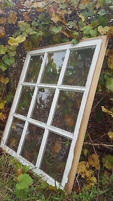 VINTAGE SASH ANTIQUE WOOD WINDOW UNIQUE FRAME PINTEREST WEDDING 34x28 9 PANE 2