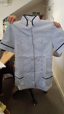 Tara Ladies Tunic, Navy/Stripe, Navy Size 18