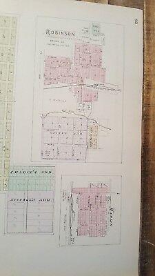 Antigüedad Mapa - Garnett,Reserva,Willis,Hamlin & Robinson - 1887 Kansas Atlas 2