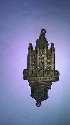"Brass Door Knocker GUILDHALL LONDON With CREST Stunning Vintage Piece 4 3/4"""