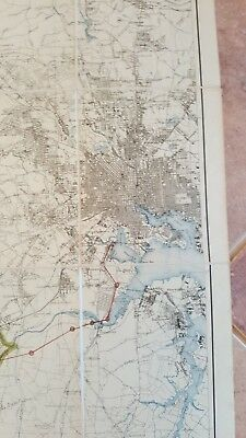 LARGE MARYLAND MAP - HOWARD COUNTY Topography & Election Districts - 1927 4