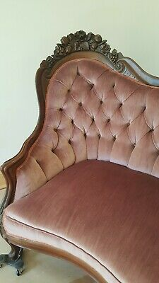 VICTORIAN JOHN HENRY BELTER ROSALIE with GRAPES SOFA GREAT CONDITION 9