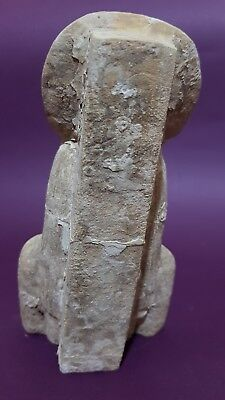 ANCIENT EGYPTIAN ANTIQUES Half STATUE Of GODDESS SEKHMET EGYPT Luxor STONE BC 5