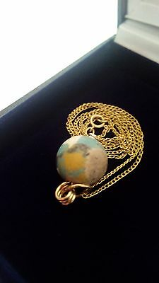 Fabulous Ancient Eastern Mediterranean  Bead And 14K Gold Chain Vintage Necklace 4