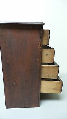 WONDEFUL ANTIQUE SALESMAN'S SAMPLE or CHILD'S MINIATURE 5- DRAWER CHEST 6