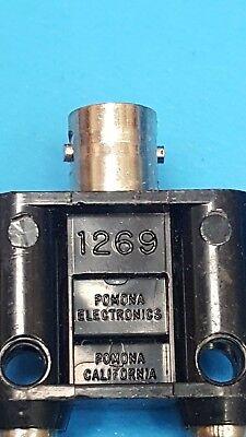 Pomona 1269, BNC to Double Banana Plugs, 30VAC/60VD, Coaxial Adapter,  2 Pcs