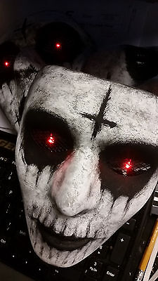 The Purge Anarchy Custom Painted Mask with Light up RED LED Eyes Halloween 2