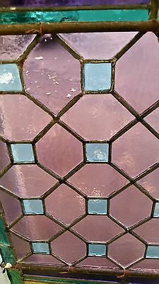 Antique American Aesthetic  Stained Leaded Glass Window 5