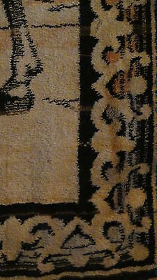 "Antique Persian Islamic Silk Rug Street Market Scene 49"" X 77"" 10"