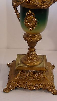 ANTIQUE 19c FRENCH RARE BRONZE GILT ORMOLU VERY ORNATE EWER 3