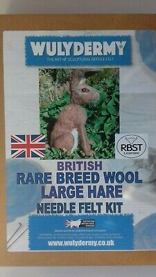 Large Hare British Rare Breed wool needle felt kit WULYDERMY 5