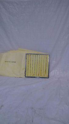 24x24x30 Fiberglass 10 Pocket 90-95/% Vee-Bag Filter 2 Loops Item# 4CABF20