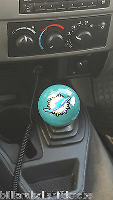 MIAMI DOLPHINS SHIFT Knob Billiard Pool Ball NFL Threaded Custom Gear  Shifter