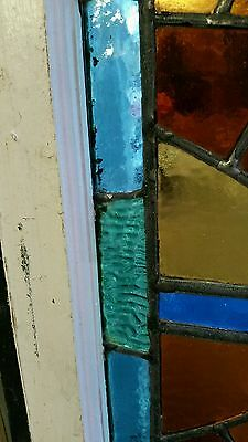 Antique American Aesthetic  Stained Leaded Glass Window 8