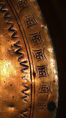 Antique 18C Islamic Arabic Copper  Ornamental Decorated Plate 6