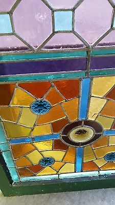 Antique American Aesthetic  Stained Leaded Glass Window 10
