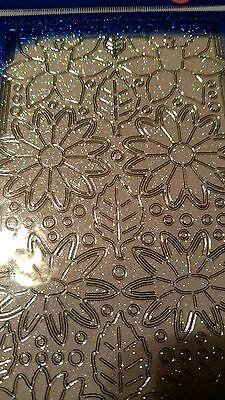 Starform silver flower stickers 1126ss