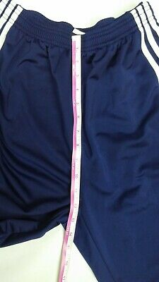 ADIDAS Men's Basketball Pants Small Navy Blue Button Snap Tear Away S 3