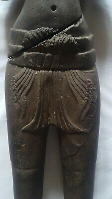 A STANDING FIGURE OF A MALE DEITY 'KULEN' STYLE. FRAGMENTED TORSO. STONE. 9th C. 3