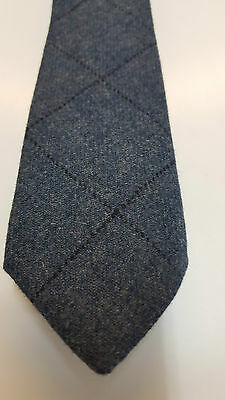 Loden Blue Tweed Tie 100% Pure Wool 4 Dressed Shirt Kilts Sporran 2