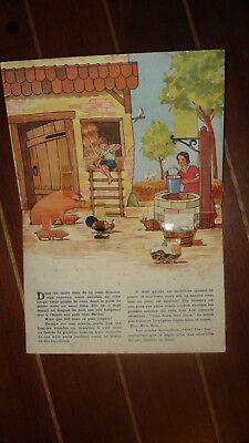 Livre Ancien Rare Enfants 1930 La Ferme Relief Lapin 1954