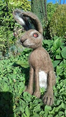 Large Hare British Rare Breed wool needle felt kit WULYDERMY 3