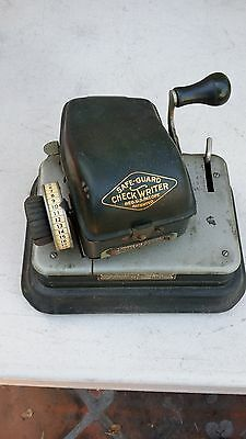 Antique/Vintage Safe-Guard Check Writer Model G (Rare)...Collectors Item 2