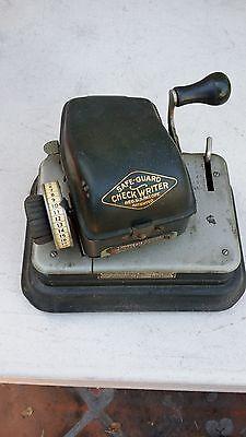 Antique/Vintage Safe-Guard Check Writer Model G (Rare)...Collectors Item 2
