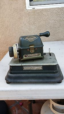 Antique/Vintage Safe-Guard Check Writer Model G (Rare)...Collectors Item 3